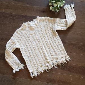NWT Sadie & Sage Cableknit Chunky Sweater S/M